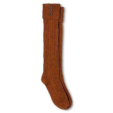 Merona™ Women/'s Knee High Socks Brown Double Cuff One Size