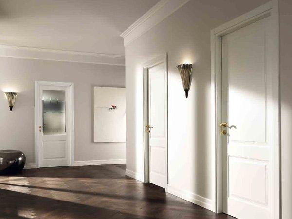 porte bianche classiche  Cerca con Google  porte  Doors Interior door trim e Tall cabinet