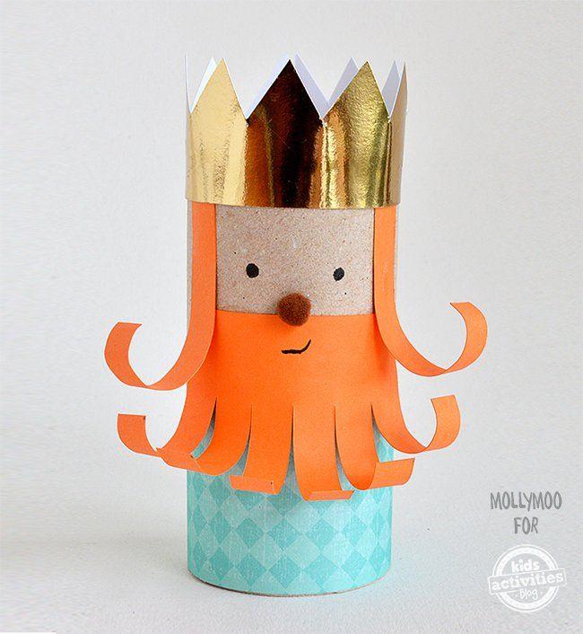 Toilet Paper Roll Leprechaun King Craft Manualidades