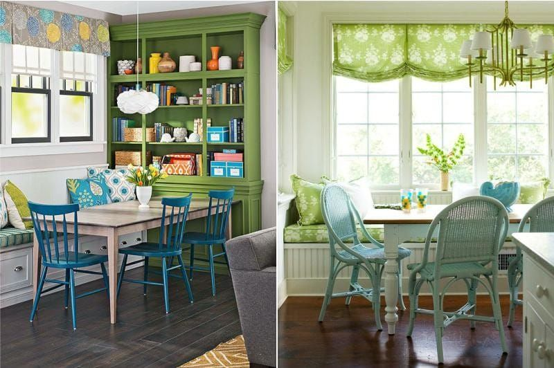 Зеленый цвет в интерьере кухни: 100 фото, цветовые ...