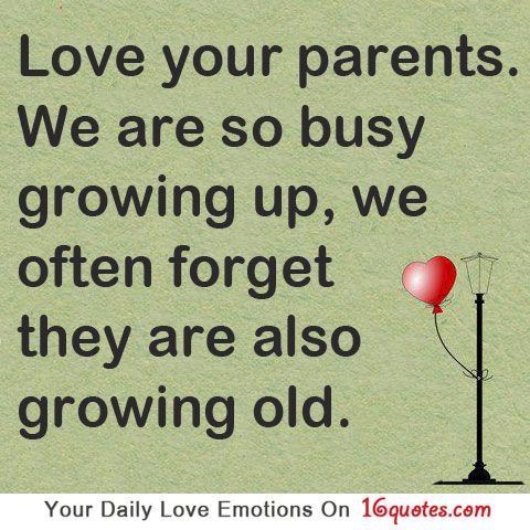 Love Your Parents We Are So Busy Growing Up We Often Forget They Are Also Growing Old Quotes Quotable Quotes Inspirational Words
