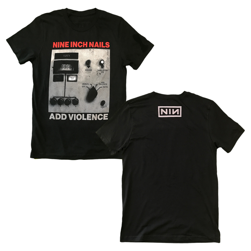 Nine Inch Nails] ADD VIOLENCE ALBUM COVER BLACK TEE https://store-uk ...