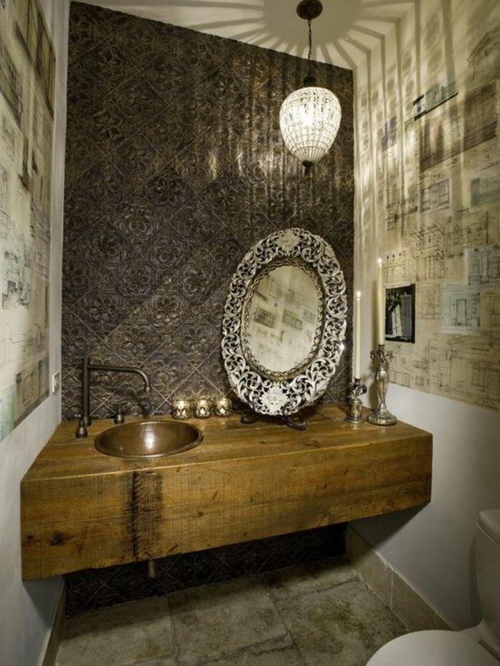 Marvelous orientalische lampe im bad scpiegel mit besonderem design dekorationen im badezimmer waschbecken wanddeko kerzen