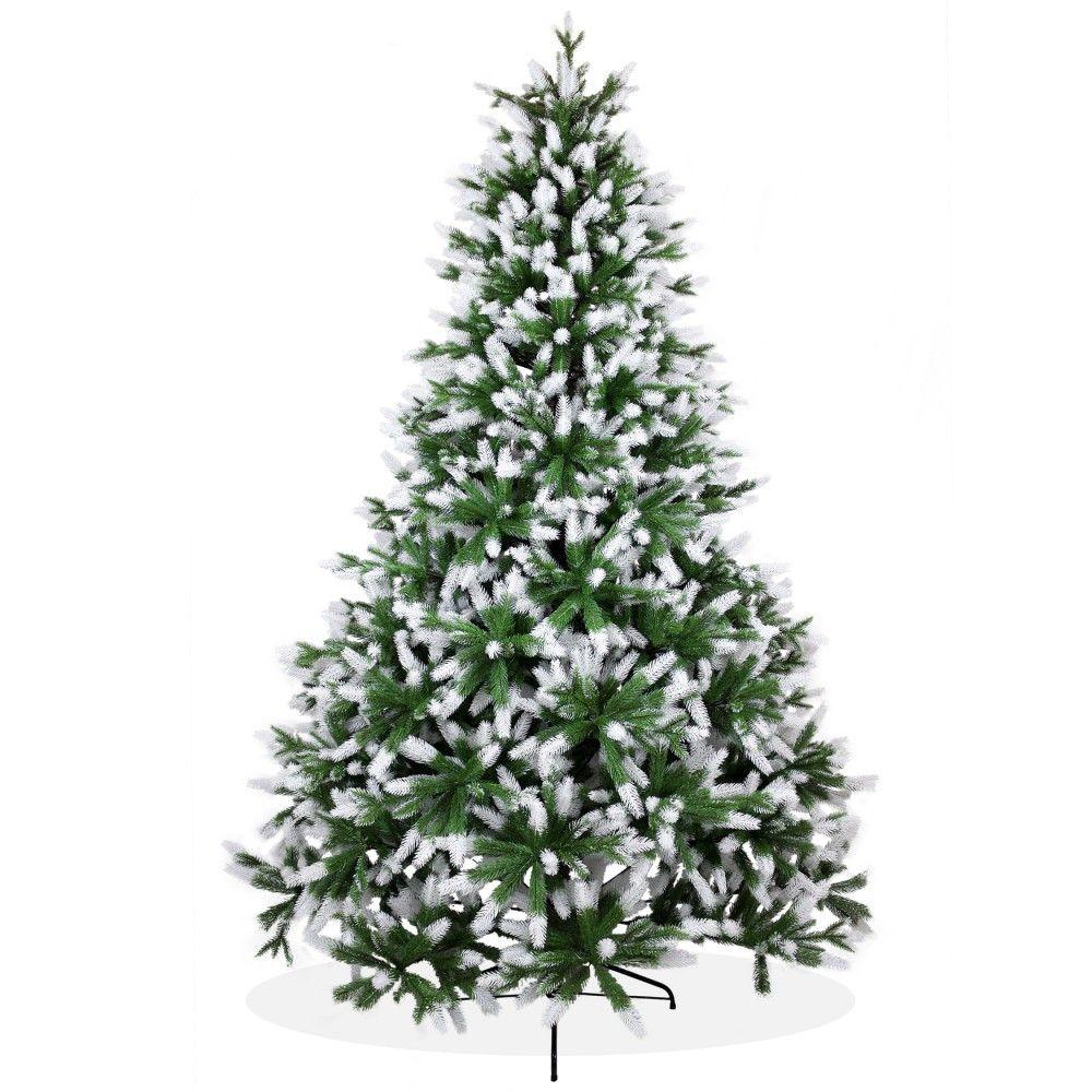 k nstlicher weihnachtsbaum 240cm pe spritzguss beschneiter premium tannenbaum nordmanntanne. Black Bedroom Furniture Sets. Home Design Ideas