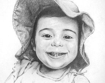 Dibujo de retrato de encargo blanco y negro dibujo por ArtByShelagh