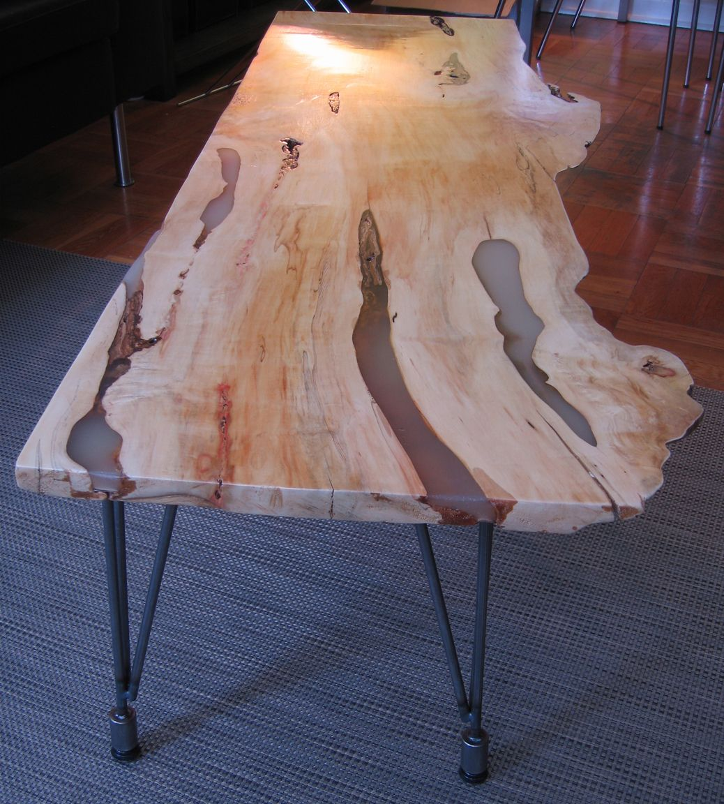 Red Flame Box Elder Table