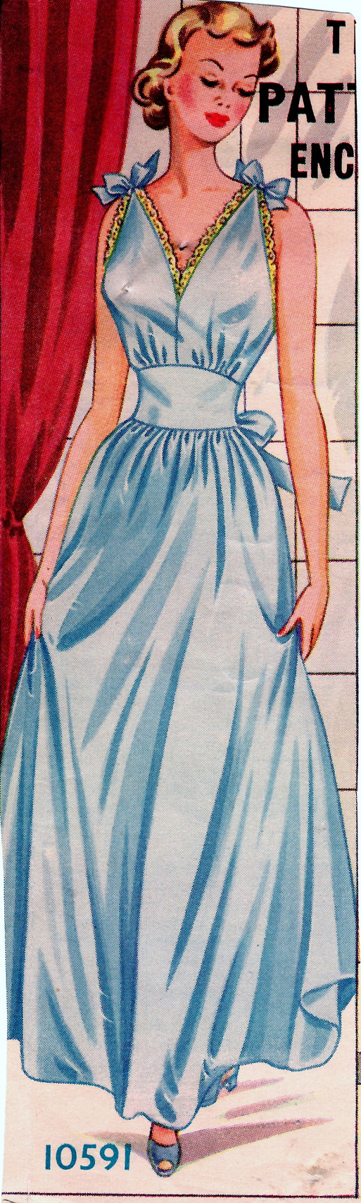 Gorgeous 1950s nightgown. Home Journal size