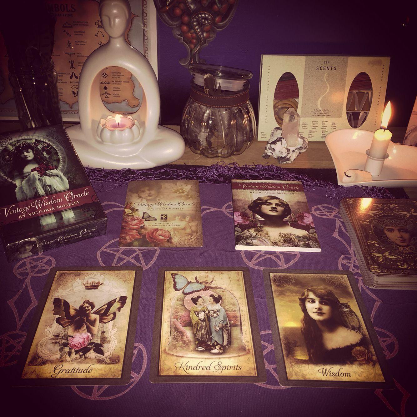 Vintage wisdom oracle cards
