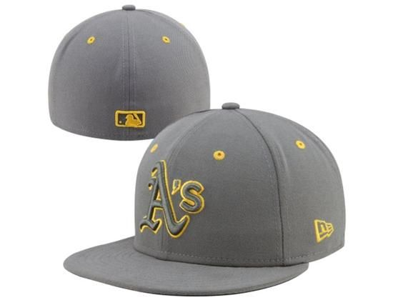 2446222f26460 Custom Oakland Athletics Storm Grey 59Fifty Fitted Baseball Cap by NEW ERA  x MLB