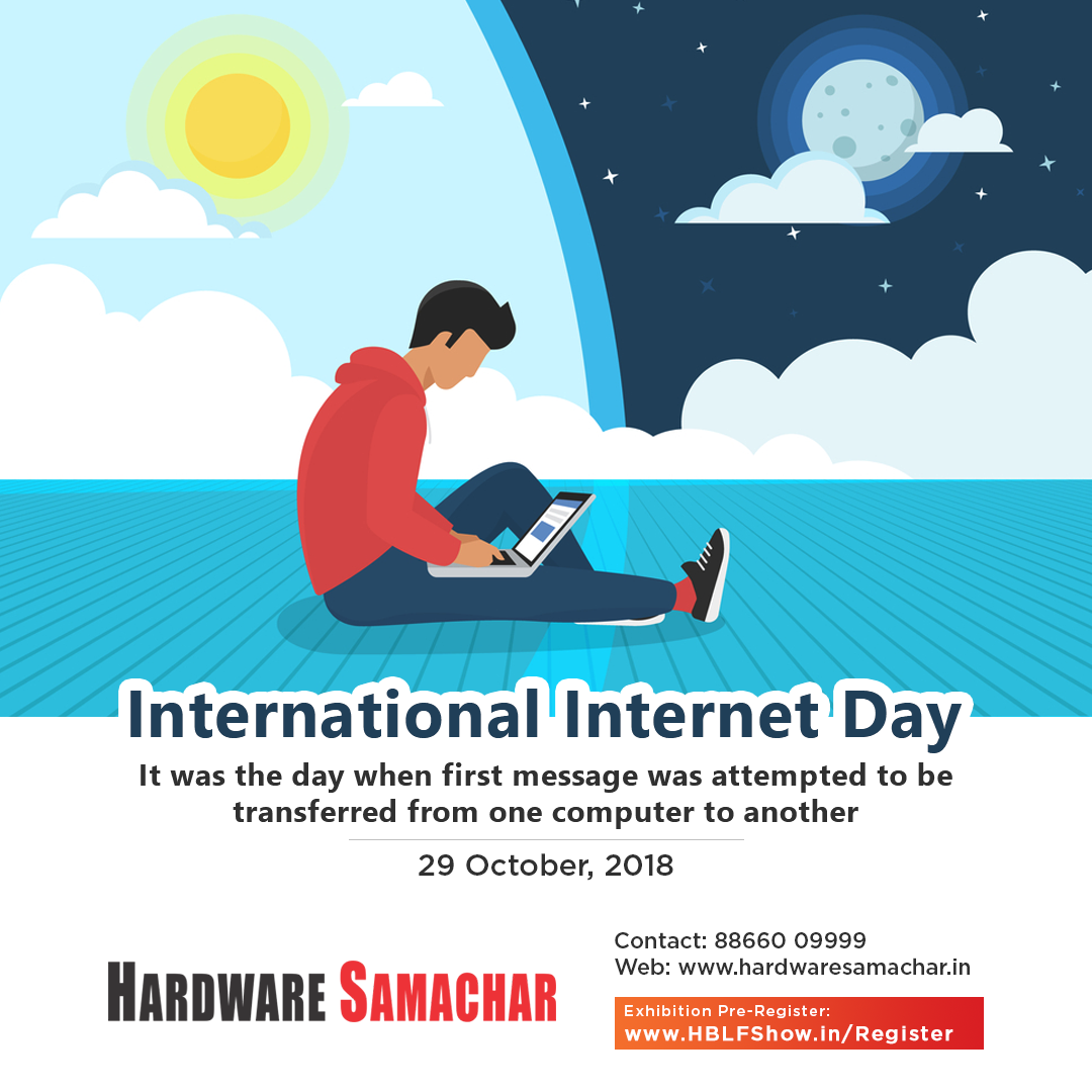 International Internet Day Is Celebrated Worldwide On 29th Of October To Commemorate An Event Of The Sending National And International Days Commemoration Day