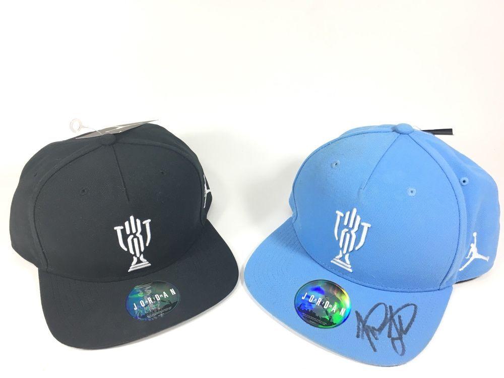 dc8ca9a67d982f Signed Lot Jordan TROPHY ROOM SNAPBACK BLACK Blue Marcus Jordan Kd 23 Kyrie   fashion