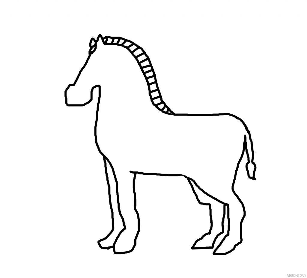 Zebra Clipart Outline