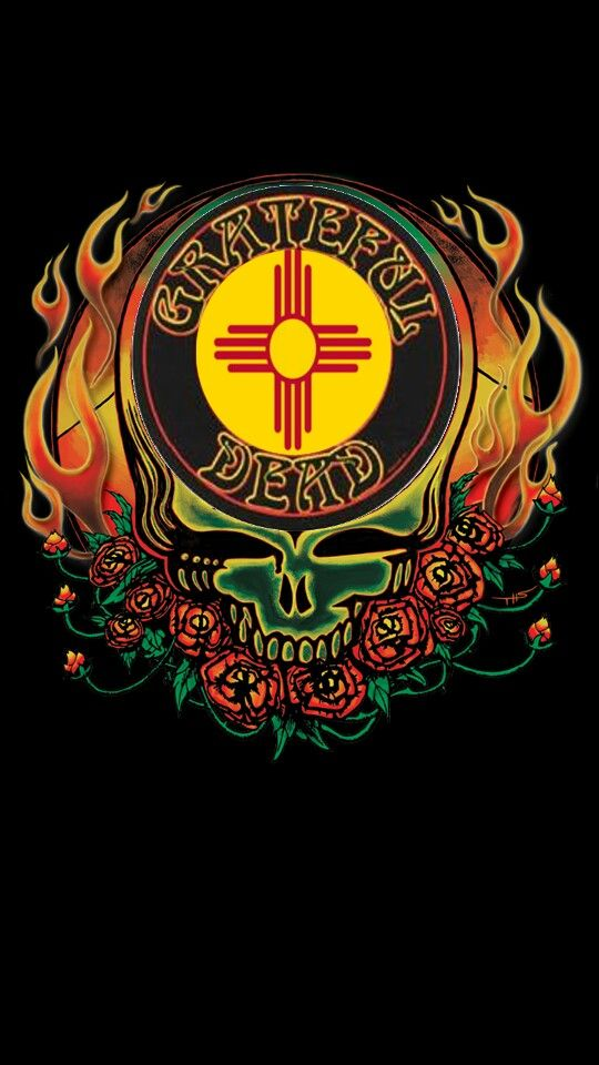 Grateful Dead New Mexico Flag Zia Grateful dead