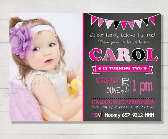 Birthday Invitation Birthday Invites Birthday Card Birthday