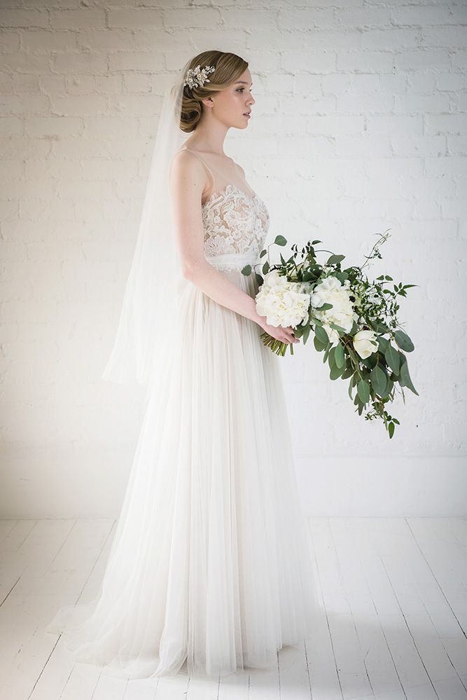 White Bridal Bouquet - Honeysuckle crystal embellished flower bridal hair comb by Halo and Co at Liberty in Love - £170 (2)