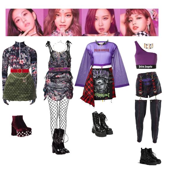 Fashion Set Blackpink Ddu Du Ddu Du Created Via Kpop Fashion Outfits Bts Inspired Outfits Kpop Outfits