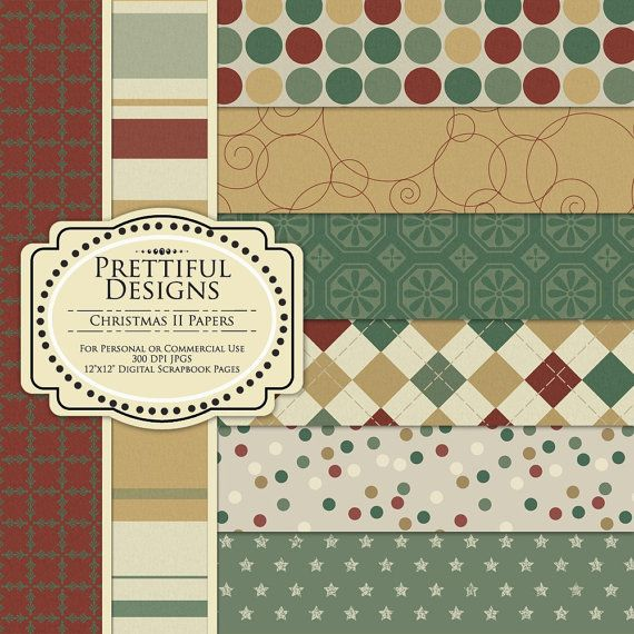 Digital Paper Pack for Personal or Commercial Use - Christmas II (31)