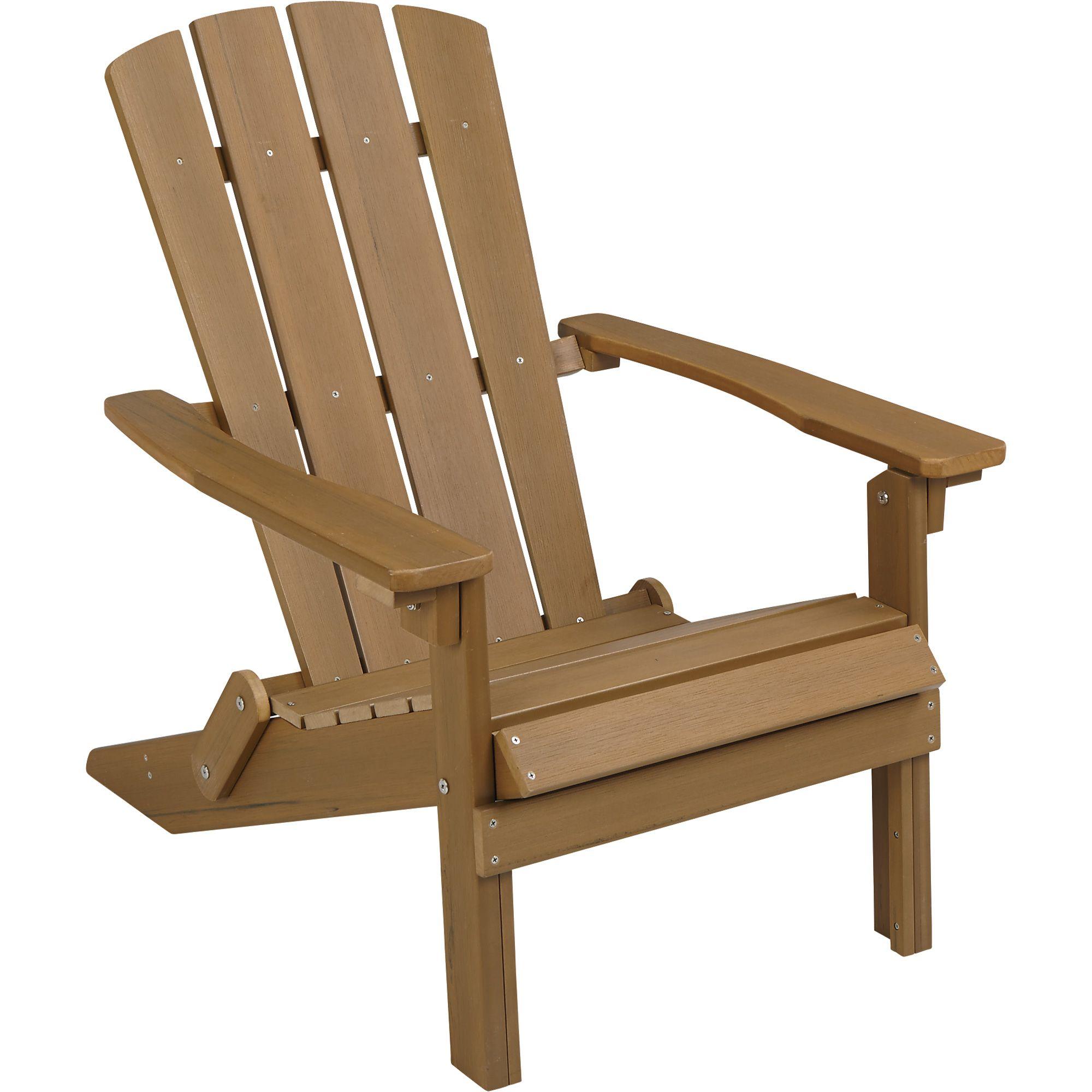Stonegate Designs Folding Resin Adirondack Chair Brown ...