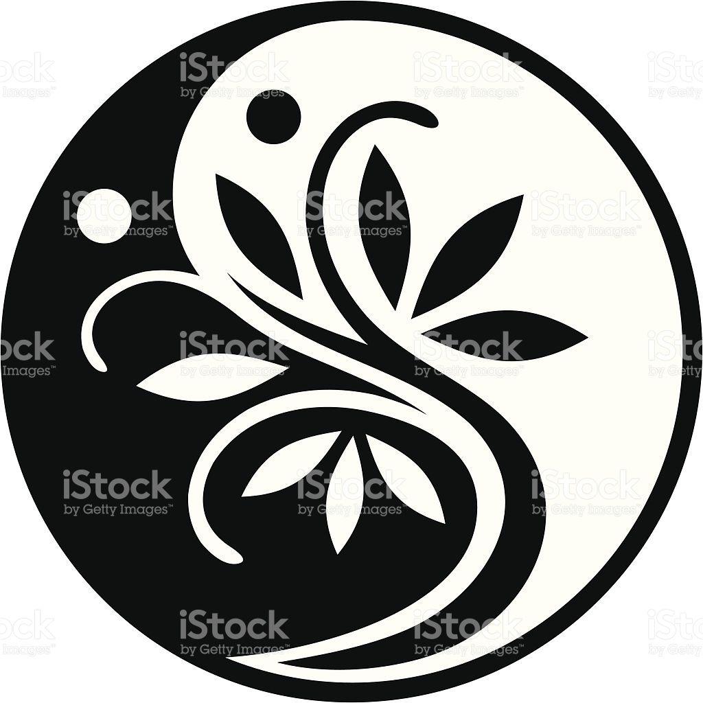 Yin Yang Tree Royalty Free Stock Vector Art Yin Yang Art Stencil Pattern Yin Yang