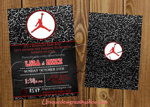 Wedding Invitation Kits Michaels: Micheal Jordan Baby Shower Invitation By UniqueDesignzzz