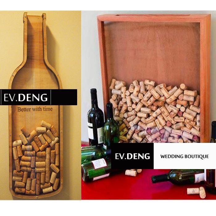 EV.DENG 手工定制酒瓶木塞投入式立体婚礼签到年会签到-淘宝网