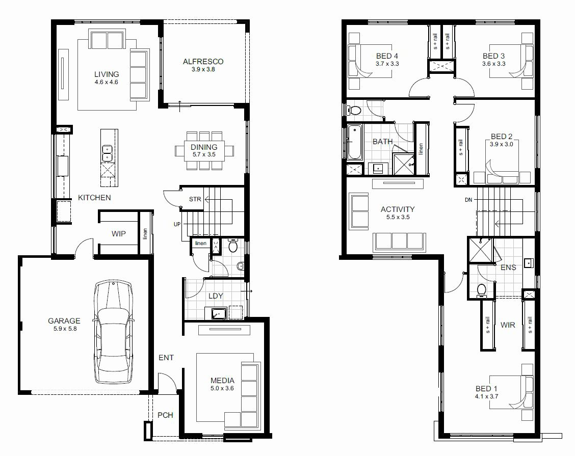 2 Storey House Floor Plan House Floor Plans Two Story House Plans Two Storey House