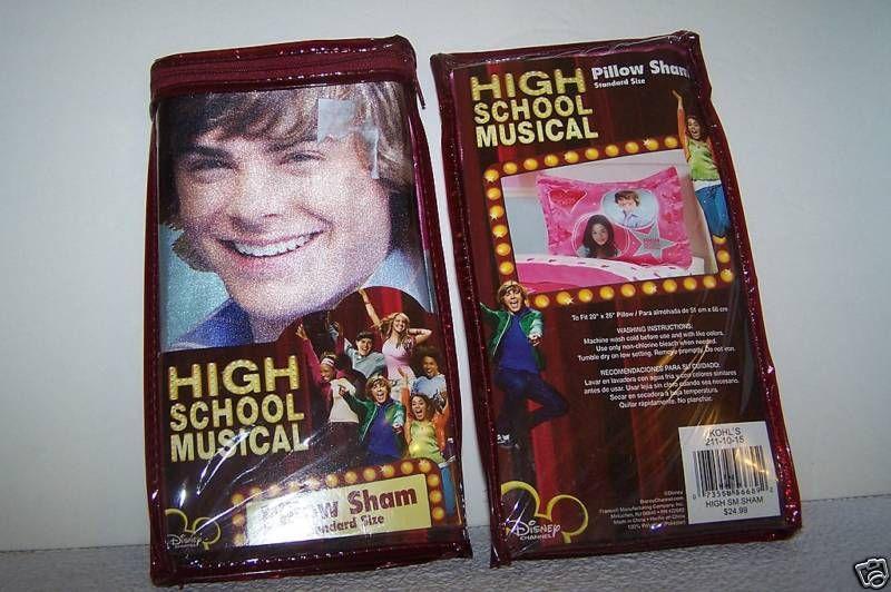 Disney High School Musical Bedroom Pillow Sham Standard New | eBay