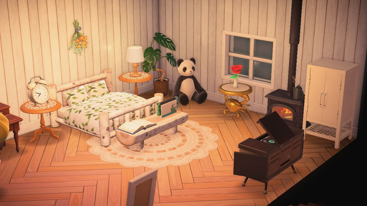 Acnh Bedroom In 2020 Animal Crossing Game New Animal Crossing Animal Crossing