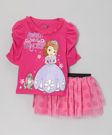 Take a look at this Pink Sophia the First Tee   Tutu Skirt - Toddler by  Sofia the First on  zulily today! 31b00dd83