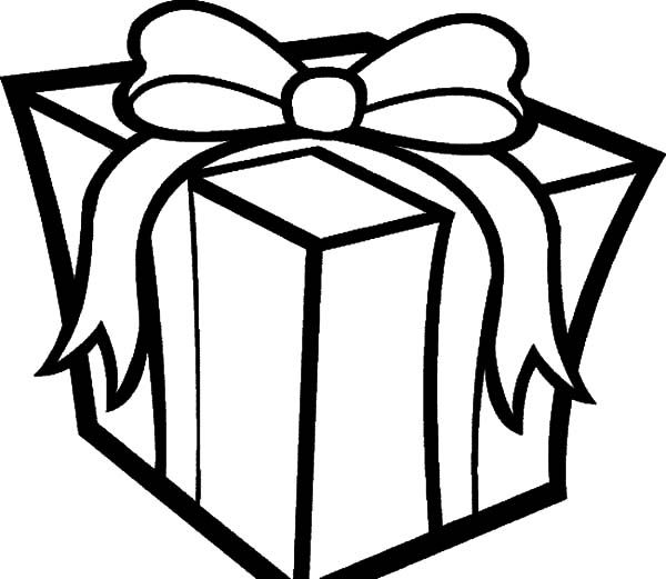 Christmas Presents Big Box Of Christmas Presents Coloring Pages