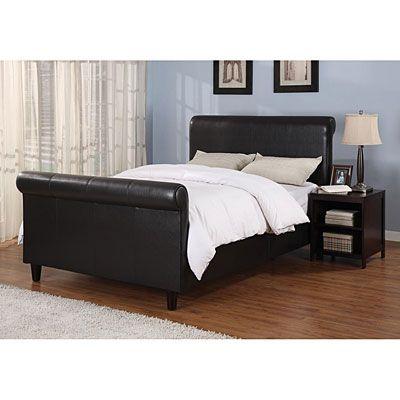 Upholstered Complete Queen Sleigh Bed, Big Lots Queen Sleigh Bed