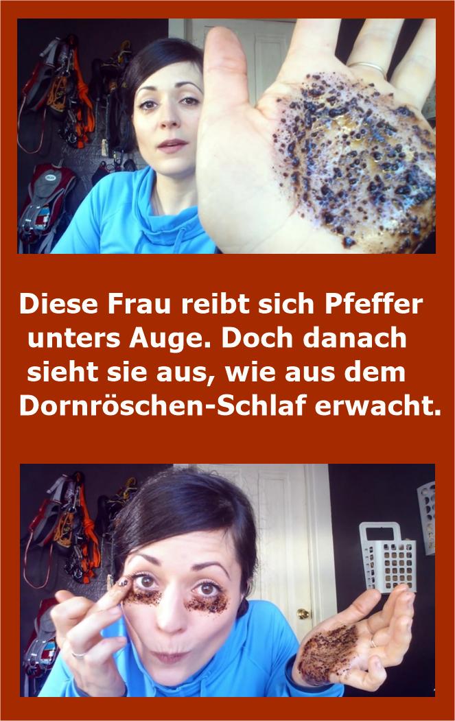 Diese Frau reibt sich Pfeffer unters Auge. Doch danach sieht sie aus, wie aus dem Dornröschen-Schlaf erwacht. | njuskam! #hairhealth