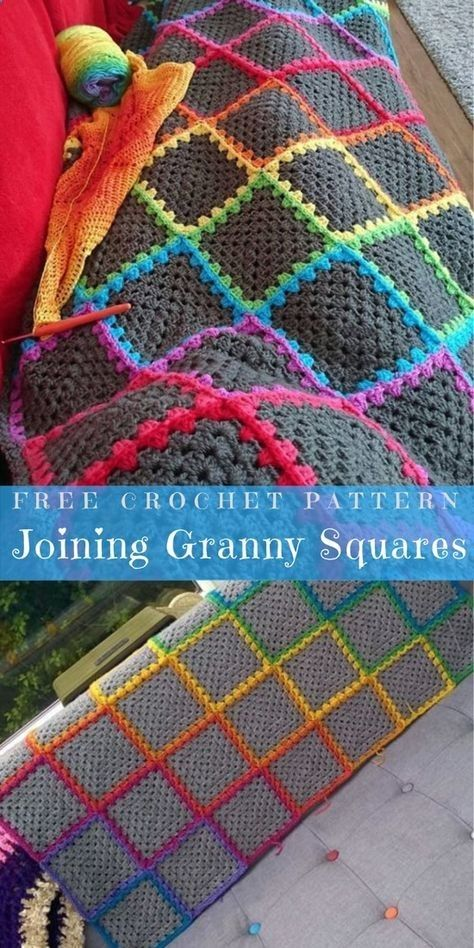 Joining Granny Squares Crochet For Beginners Blanket Granny Square Crochet Pattern Crochet Squares