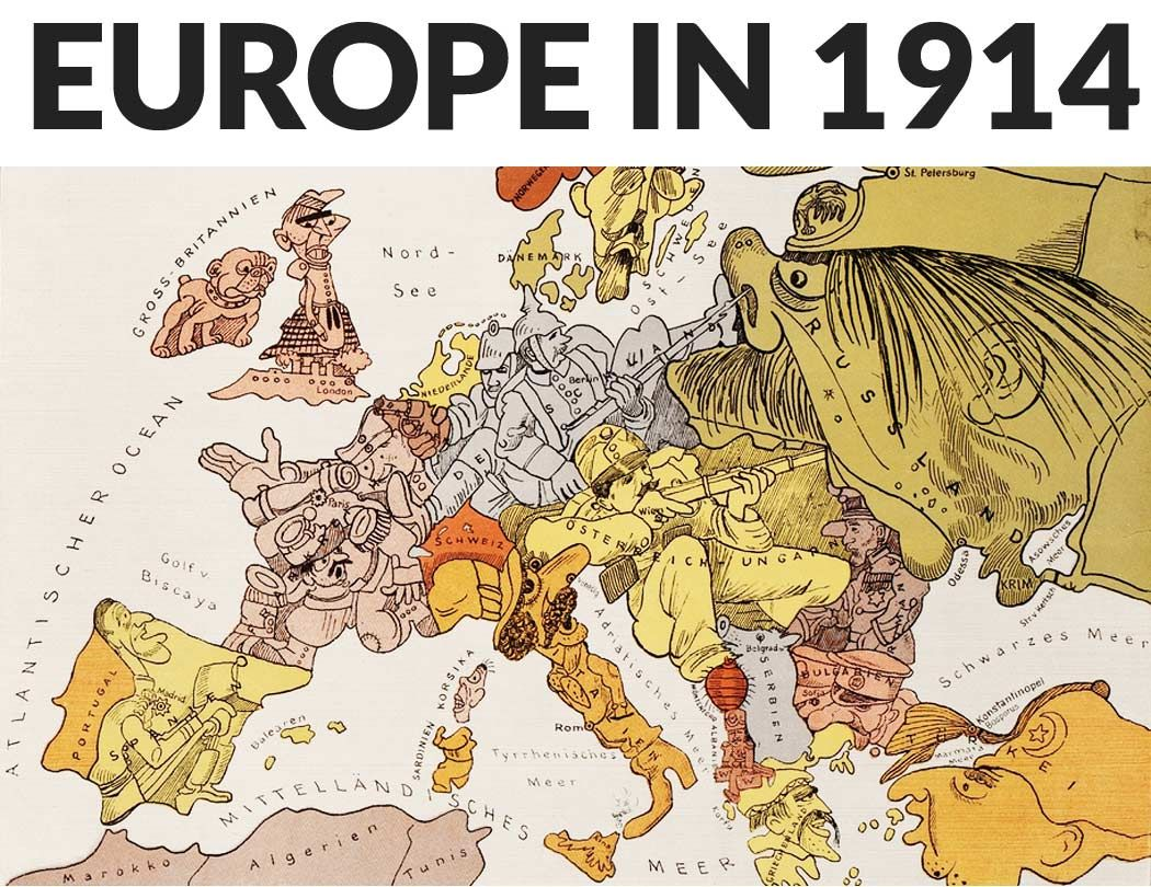 By 1914 Europe was divided by two major Alliance systems ...