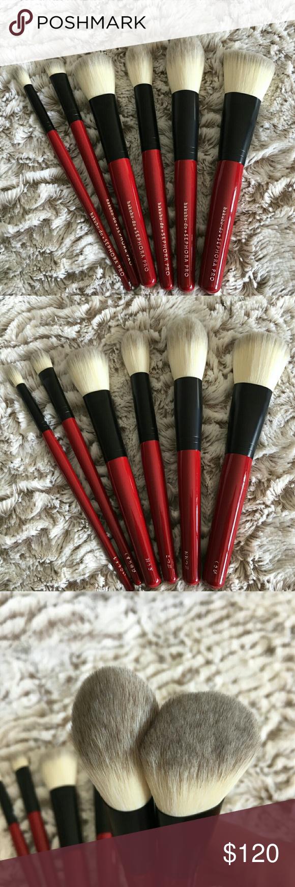 Hakuhodo sephora 6 brushes set nwt Sephora makeup