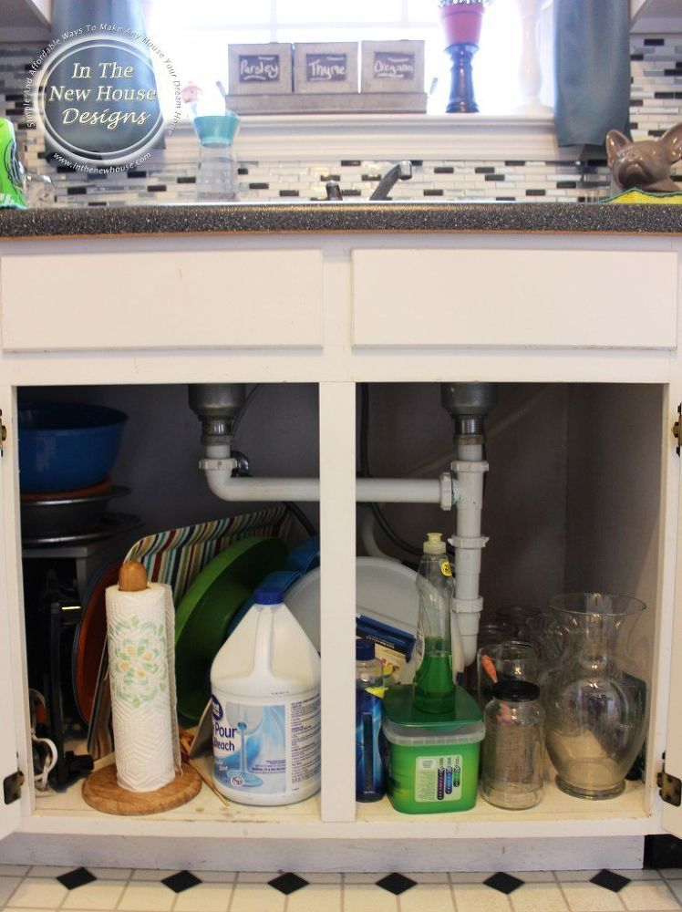 How To Organize Under Your Kitchen Sink (The Real Life Way)