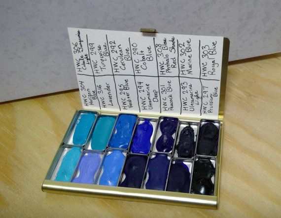 Blue Holbein Watercolour Paint Sampler In A By Aperfectpeacock