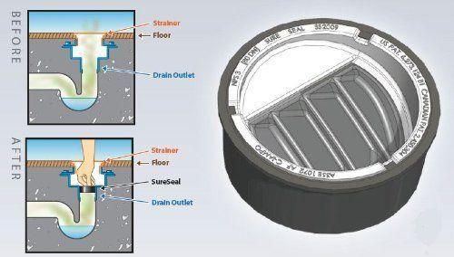 4 Inch Inch Floor Drain Trap Seal Sureseal Floor Drains
