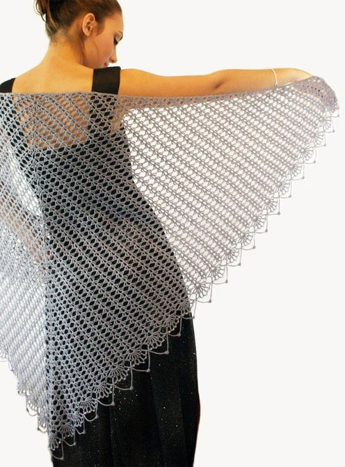 5b47b028bba8 Sheer Elegance ~ Lace Shawl {crochet pattern available ...