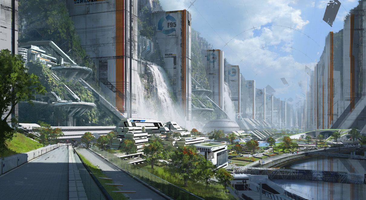 Sci Fi Design Enviromnent Concept Art Concept Art Sci Fi Paisagem Fantasia Cidade Futurista Arquitetura Futurista