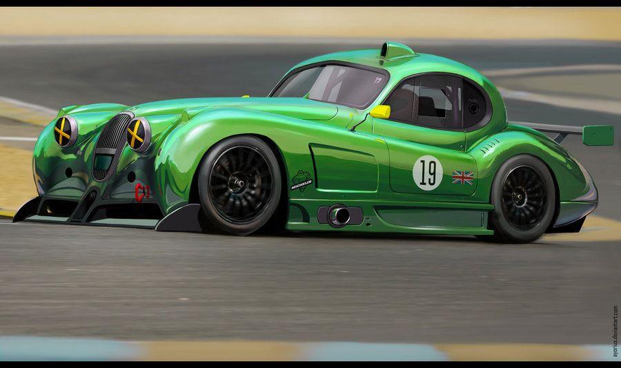 Jaguar Xk Race Car By Ayorius Auto Art Pinterest Jaguar