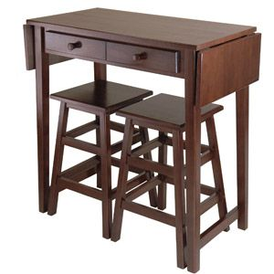 Winsome Wood Mercer Double Drop Leaf Table with 2 Stools, Cappuccino    OR This one...??!!!    $185.00