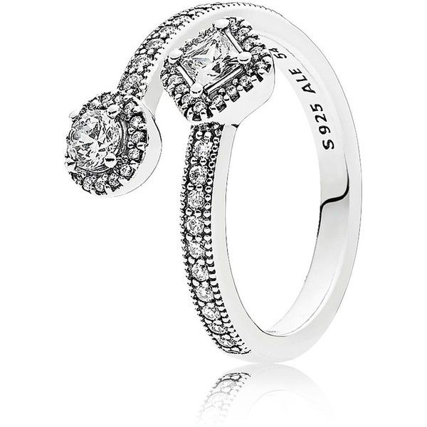 fe6e73077 Pandora Ring - Sterling Silver & Cubic Zirconia Abstract Elegance (4,455  DOP) ❤ liked on Polyvore featuring jewelry and rings