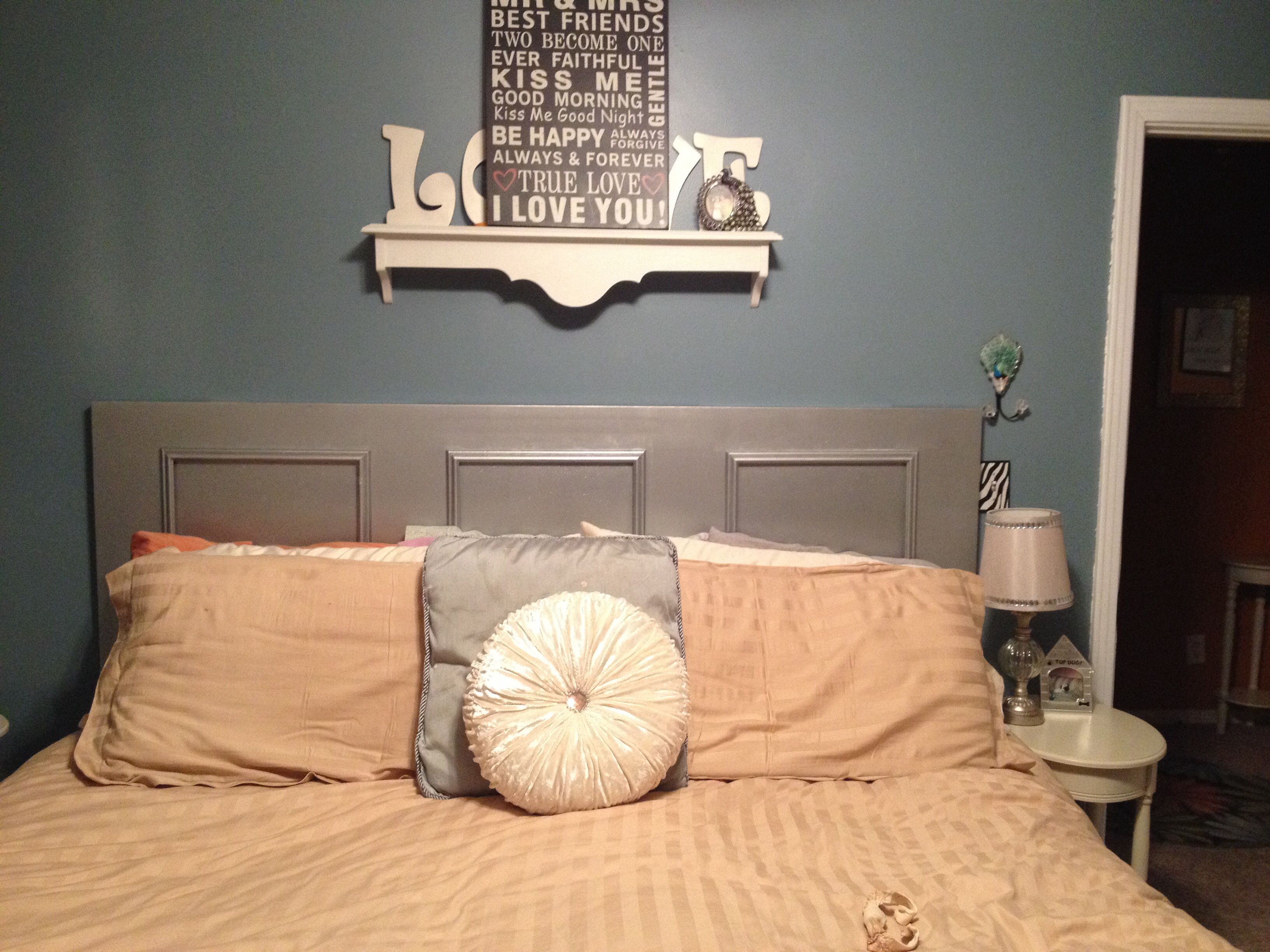 Headboard  Made From Old Hollow Core Door 3, 16X20