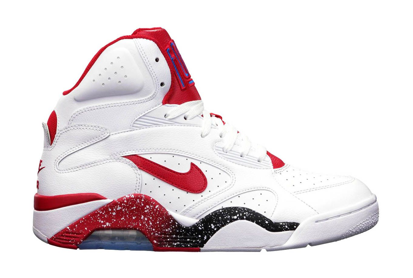 Men Nike Air Force 180 Mid White Hyper Red Photo Blue Shoes