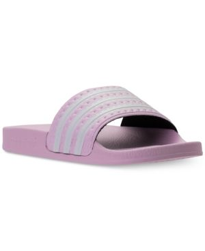 5b29a83ef894 adidas Girls  Adilette Slide Sandals from Finish Line - Pink 5 ...