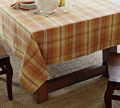 Harvest Plaid Tablecloth | Pottery Barn
