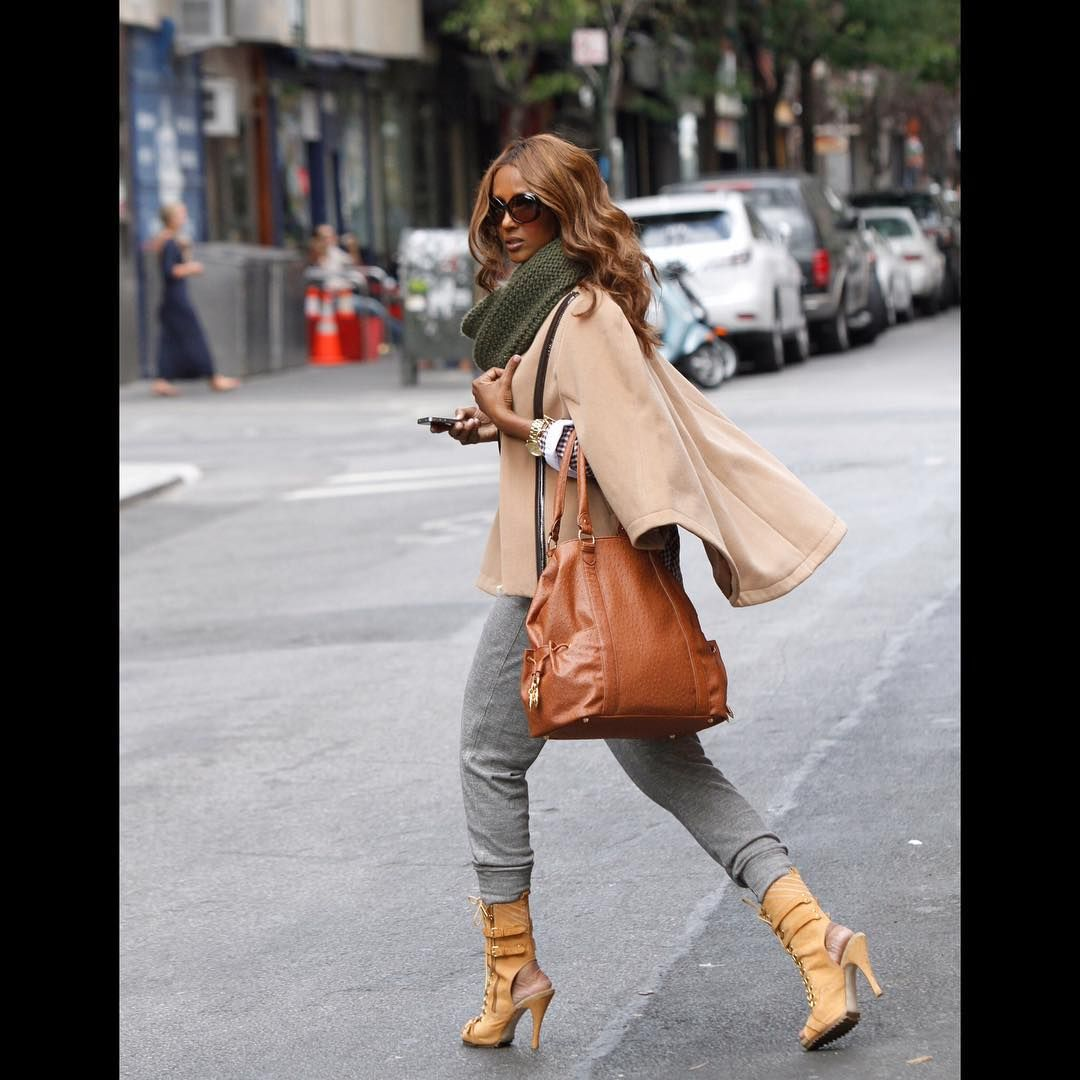 #tbt Fall weather is upon us! Here in past @imanglobalchic @hsn #imanarchive
