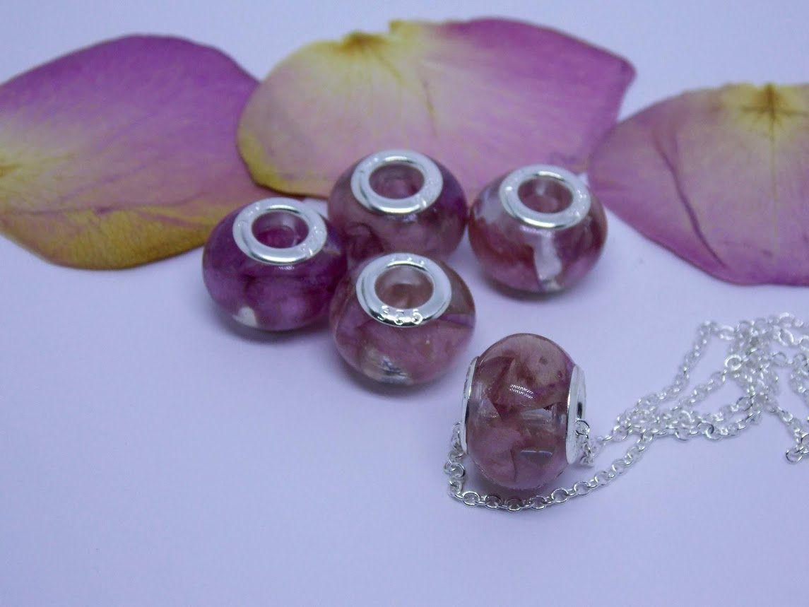 Your Own Flowers Custom Preserved Flower Bead Pandora Style Flower