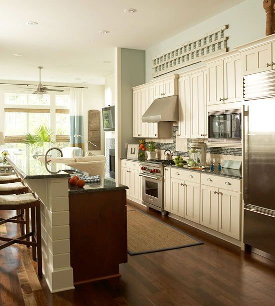 Traditional Kitchen Design Ideas   One wall kitchen ... on Traditional Kitchen Wall Decor  id=37141